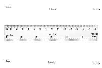 Show a ruler with centimeters