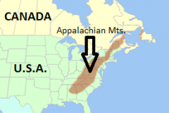In Map Form, Show Me Where The Appalachian Mountains Located? - Blurtit